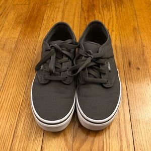 Classic Vans in Youth Size 5 in grey color.